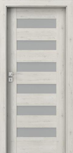 Dveře s rámovou konstrukcí